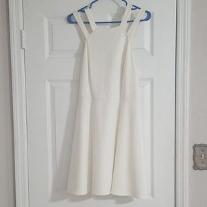 Strappy white cocktail dress